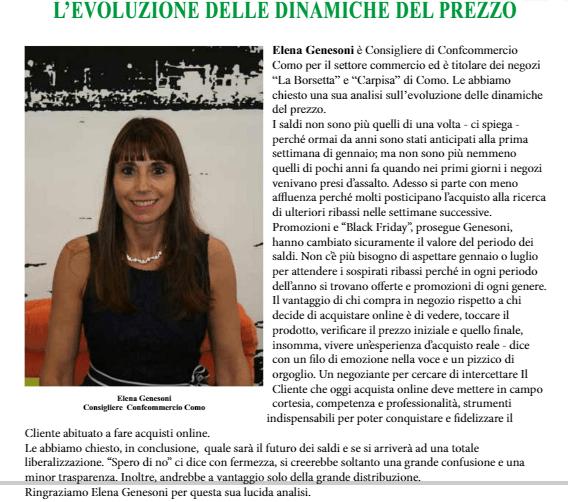 """La mia intervista sulla rivista """"Il Faro"""" di Confcommercio Como"""