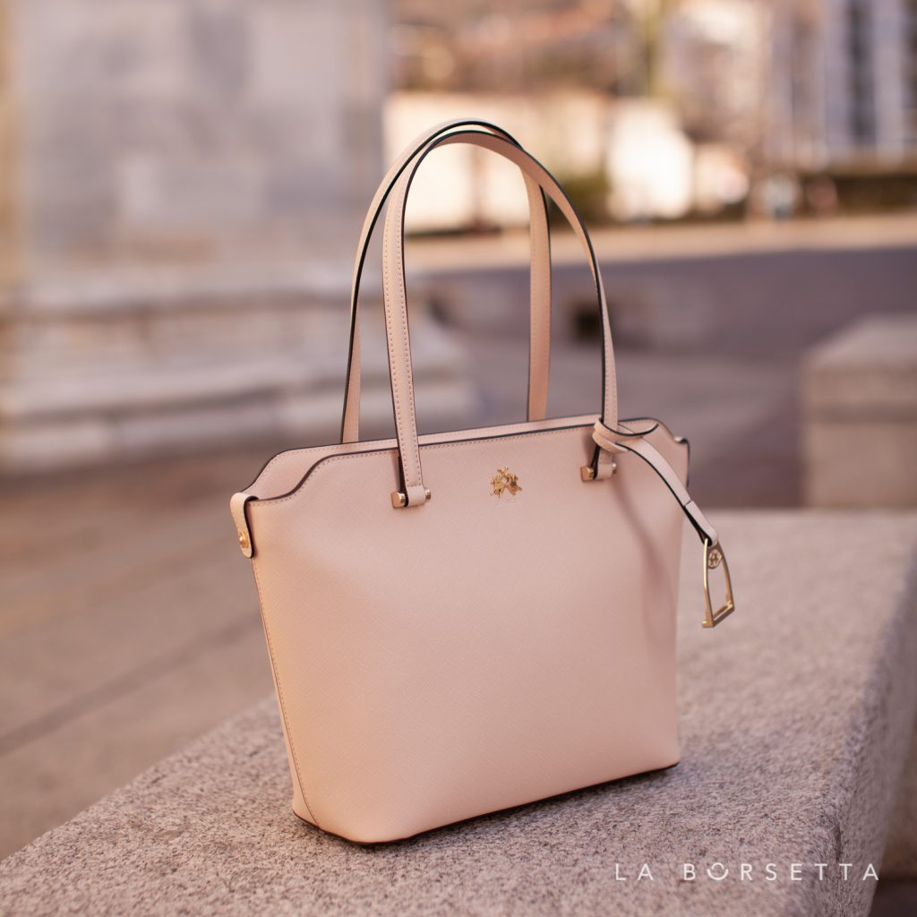 Borsa Shopping Bag in similpelle La Martina Valeria Colore Whisper Pink La Borsetta Como
