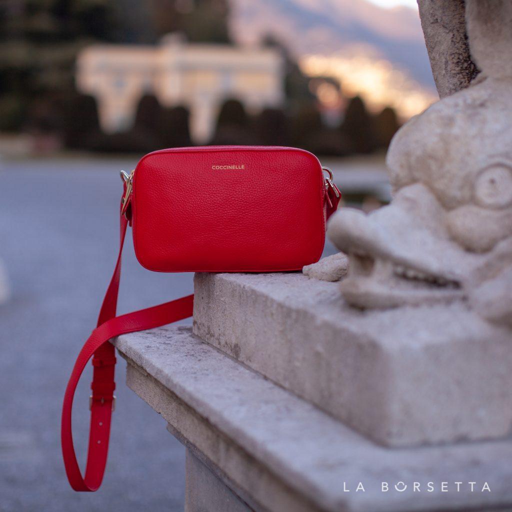 Borsa a tracolla in pelle Coccinelle Alpha Colore Polish Red La Borsetta Como