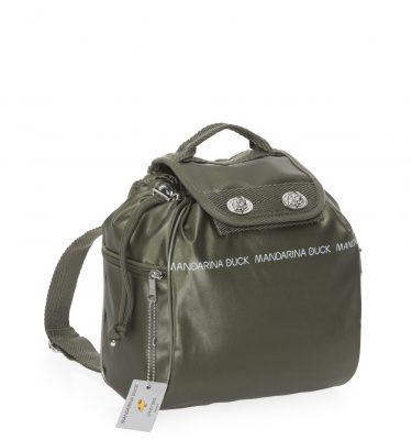 Zaino-Utility-Small-Mandarina-Duck-Military Olive-La-Borsetta-Como