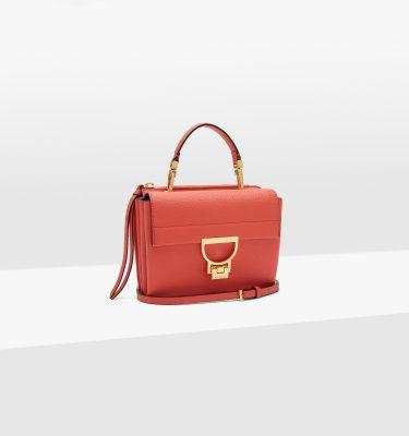 Borsa donna in pelle a mano, a tracolla Arlettis Mini Coral Red Coccinelle La Borsetta Como